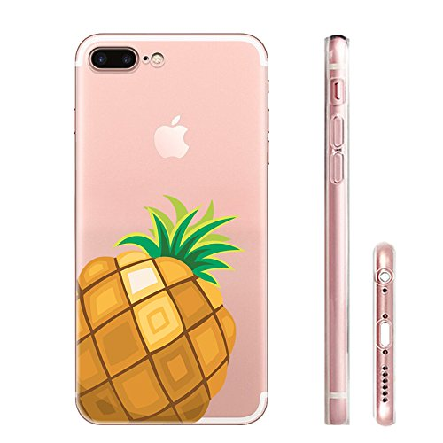 IPHONE 7plus Hülle Meerjungfrau Ananas Liebe Muster TPU Silikon Schutzhülle Handyhülle Case - Klar Transparent Durchsichtig Clear Case für iPhone 7 plus hw22