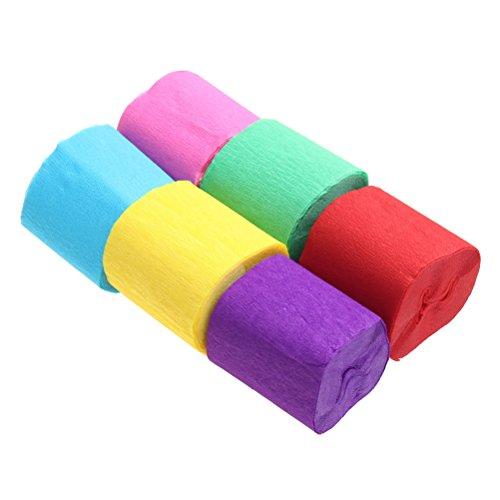 Papier Luftschlangen, sicai Krepppapier Crepe Papier Party Streamer 6Farben Streamer Party Dekoration