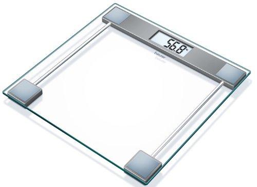 Beurer GS-11 - Báscula de baño de vidrio, pantalla LCD, 150 kg...