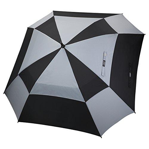 G4Free 62 Inch Automatische Open Golf Umbrella Doppelte Baldachin Quadratischen Regenschirm Extra Große Belüftete Winddicht Stick Regenschirme für Männer und Frauen