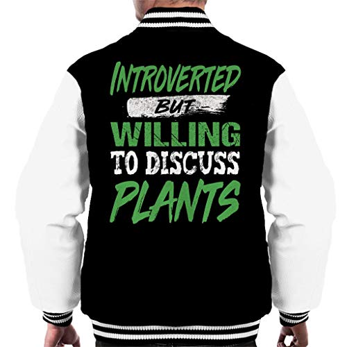 Cloud City 7 Introverted But Willing to Discuss Plants Men's Varsity Jacket