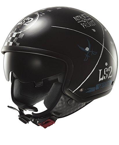 LS2 305615212L OF561 Casco Wave Greatest, Color Negro, Tamaño L
