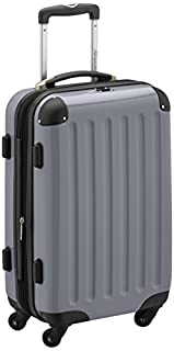 HAUPTSTADTKOFFER® · Hard-Side Cabin Luggage Silver high Gloss · Dimension ca. 55 x 35 x 20 cm + 4 cm Volume Expansion · max. 45 Liter Filling Volume (B004ILARTG)   Amazon price tracker / tracking, Amazon price history charts, Amazon price watches, Amazon price drop alerts