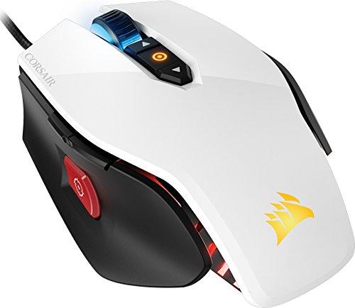 Corsair Gaming M65 Pro - Ratón Óptico Gaming 12000 DPI, Blanco