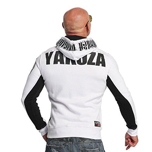 Yakuza Original Herren Chockin Victim Hoodie Kapuzenpullover Weiß