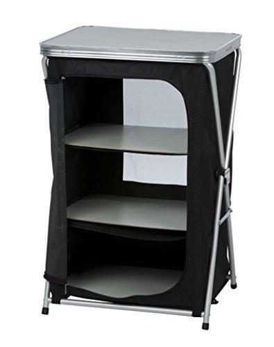 Preisvergleich Produktbild DKB Campingschrank/Campingregal mit 3 Fächern aus Aluminium Faltbar