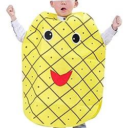 zhbotaolang Niños Frutas Disfraces de Halloween Niños Peso Ligero Juego de rol Trajes de Fiesta de Las Niñas Vestido de Lujo (Piña)