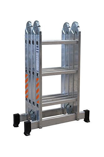 Nawa Escalera de aluminio Multiuso Máx. carga de capacidad de 150 kg conforme al estándar EN131. Hecho...