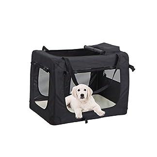 mc star lightweight fabric pet carrier with fleece mat and food bag,medium, 60 x 42 x 42cm, black MC Star Lightweight Fabric Pet Carrier with Fleece Mat and Food Bag,Medium, 60 X 42 X 42cm, Black 414eP38sseL