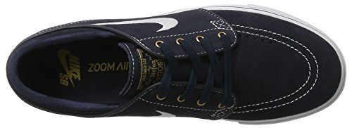 Nike Herren Zoom Stefan Janoski Skateboardschuhe Blau (Dark Obsidian/White-White)