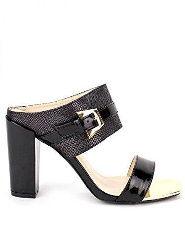 Cendriyon, Sandale Noir ROXANA Mode Chaussures Femme Noir