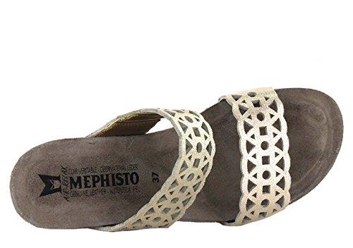 MEPHISTO MANON - Mules / Sabots - Femme PLATINE