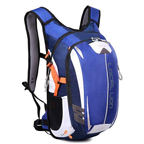 LOCAL LION Fahrradrucksack Trinkrucksack Reiserucksack Sportrucksack Tagesrucksack Alltags Daypacks Backpack Outdoor Ultraleicht Unisex 18L, Blau...
