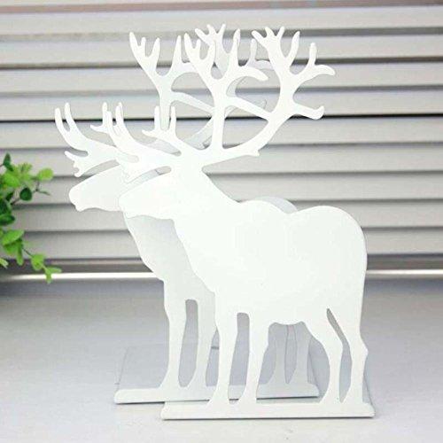 CHINA UK Hirsch Buchstützen Büro Kreative Deer 1 STÜCK Organisatoren Halter Für Buch regal Büro Werkzeuge buch regale (Weiß) (Hirsche China)