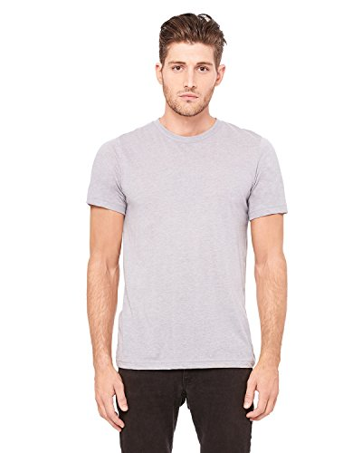 Bella+Canvas: Men`s Triblend V-Neck T-Shirt 3415 Athletic Grey Triblend