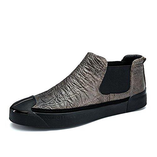 HUAN Scarpe Casual da Uomo Scarpe Basse da Mocassino Scarpe da Passeggio Scarpe da Ginnastica Stile Inglese Scarpe da Corsa Moda Primavera Khaki