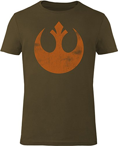 GOZOO Star Wars T-shirt Uomo The Rebel Alliance Starbird 100% Cotone, Stampa di Alta Qualitá Verde M
