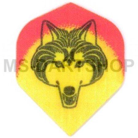 MS Dart-Flight Nylon Standard Wolf Gelb, 3 Satz = 9 Stück (Dart Flügel)