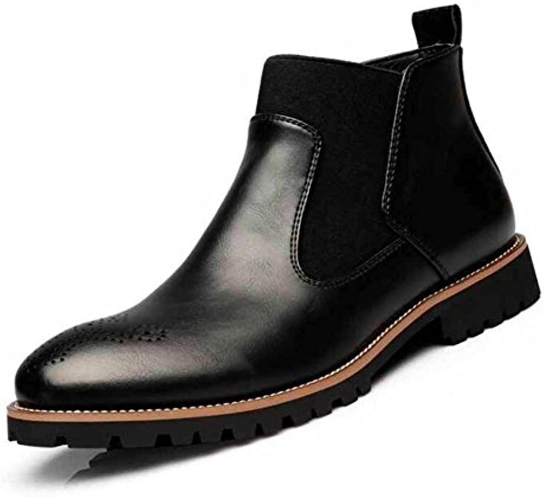 Hombres Casual Chelsea Botas Primavera Nuevo Cómodo Cuero Zapatos Acento Irlandés Británico Corto Botas ( Color  -