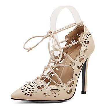 Moda Donna Sandali Sexy donna tacchi Primavera / Estate / Autunno Gladiator cuoio Party & sera abito / / Casual Stiletto Heel Lace-up nero/beige altri beige