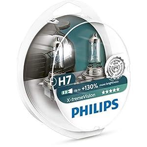 Philips 12972XV+S2 XtremeVision 130 Prozent Scheinwerferlampe H7 Autolampen Halogen Glühlampe, 2 Stück