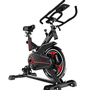 414eTfOCXzL. SS300  - Lcyy-Bike Bicycle Trainers Magnetic Resistance 8 Kg Flywheel Cardio Workout With Multifunctional Display Adjustable Handlebars & Seat Height