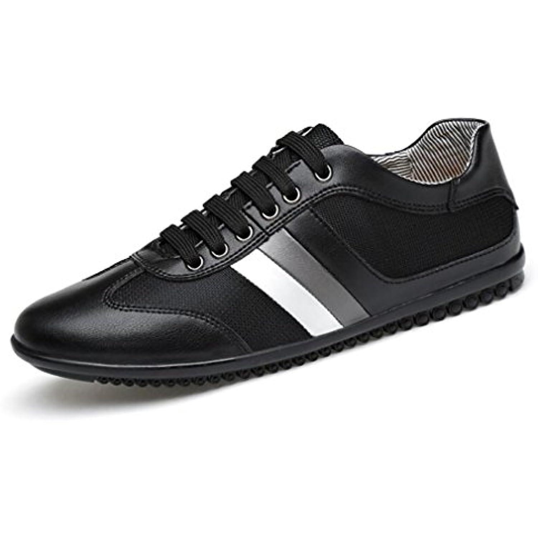 Hemei Scarpe Da Uomo/Sneakers Sportive Comfort Butunno/Pelle / Scarpe Sportive Uomo/Sneakers Traspiranti B Rete Casual/Nero Bianco,Black,41  Parent 6b60f4