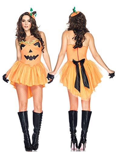 MAIMOMO Frauen Männer Halloween Kürbis Halloween-Kostüm Weihnachtsauftrittskostüm Erwachsener Leistungspartykostüm Cosplay Kürbisanzug, Orange, Einheitsgröße (Seasons Four Halloween-kostüme Das)