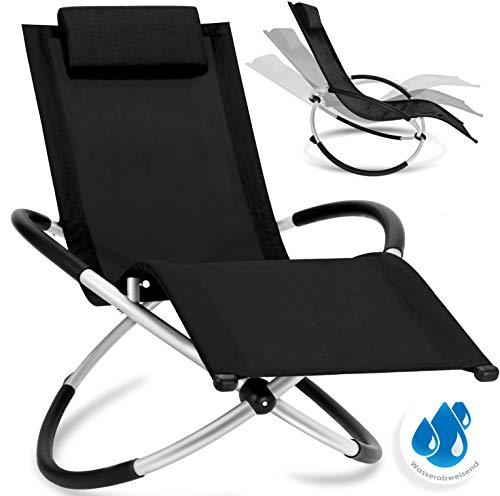 Kesser Relaxliege Liegestuhl | Gartenliege | Gartenstuhl | Klappstuhl faltbar | Schwungliege |...