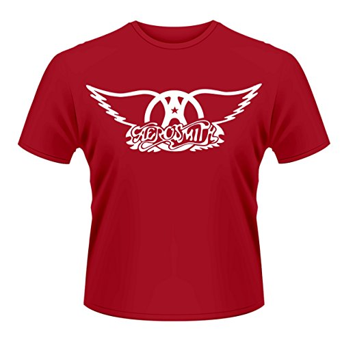 Plastic Head Aerosmith Logo-camiseta Hombre    Rojo rosso Medium