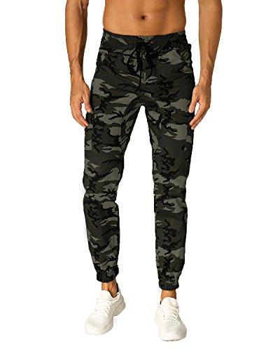 MODCHOK Herren Hosen Jogginghosen Freizeithosen Chinohosen Camouflage Regular Fit
