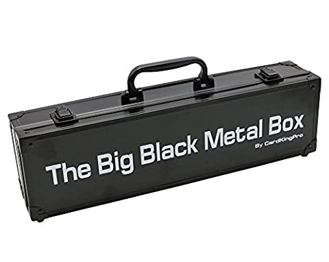 The Big Black Metal Box (LONG Edition) | Suitable For Cards Against Humanity, Magic The Gathering Etc (Game Not Included) | Includes 8 Dividers | Fits up to 1400 Loose Unsleeved Cards