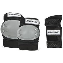 Powerslide Pow Protection Kids - Protectores infantiles para montar en monopatín, color negro y gris negro negro Talla:extra-small