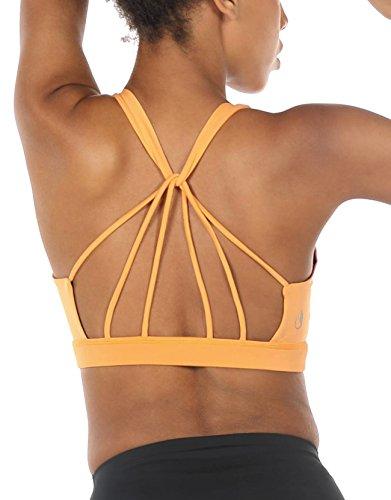 Schöner Bh (icyzone Yoga Sport-BH Damen Bustier mit Gepolstert - Atmungsaktiv Ohne Bügel Sports Bra Top (S, Banana Cream))