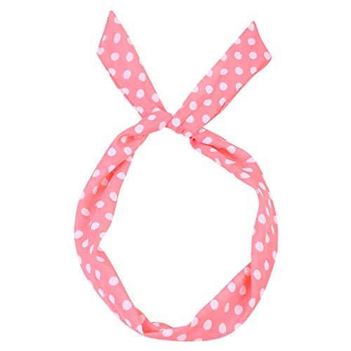 LLonGao Paisley Rockabilly verkabeltes Stirnband Polka Dot Tartan Retro Schal Draht Haarband Katzenohren Elegant Mode Haarband Saugfähigkeit Feuchtigkeitstransport ()