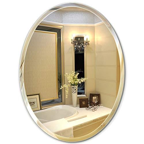 Espejo - baño, Pared Ovalado, Biselado, Imagen Clara (Tamaño : 50 * 70cm)