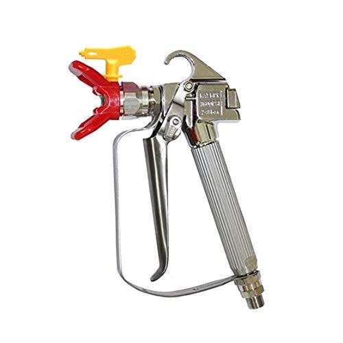 LouiseEvel215 3600PSI Hochdruck-Airless-Spritzpistole Airbrush + 517 Spritzdüse + Düsenschutz für Wagner Titan Pump Pritzmaschine -