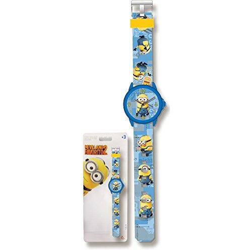 Reloj analogico Minions azul