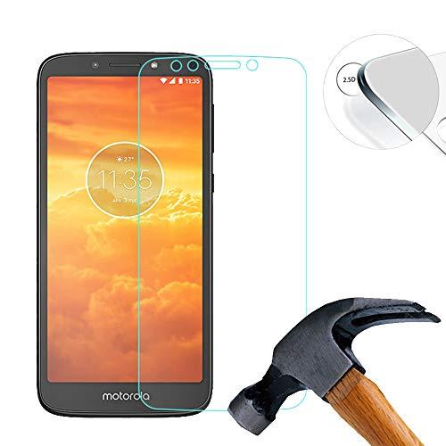 Lusee 2 X Pack Panzerglasfolie für Motorola Moto E5 Play GO 5.3 Zoll Tempered Glass Hartglas Schutzfolie Folie Bildschirmschutz 9H (Nur den flachen Teil abdecken)