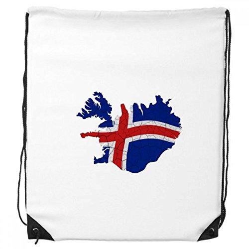 DIYthinker Karte Island Zusammenfassung Flag Pattern-Rucksack Einkauf Geschenk Sporttaschen One_Size Mehrfarbig