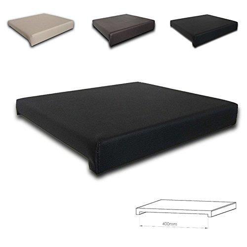 Coussin d'assise serrage Coussin disponible en différentes couleurs et tailles, Cuir synthétique, noir, Innenmaß 40