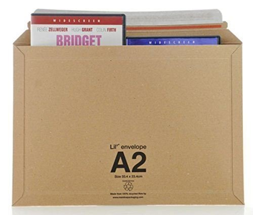 20 LIL 'A2' Peel + Seal Strong Board Envelopes Size 334 x 234mm
