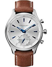 Kronaby sekel A1000-3122 Herren Quarz Uhren hybrid smartwatch eine traditionelle Uhr mit Smartwatch Funktionalitäten 41 mm Gehäusedurchmesser Saphirglas 100 M wasserdicht