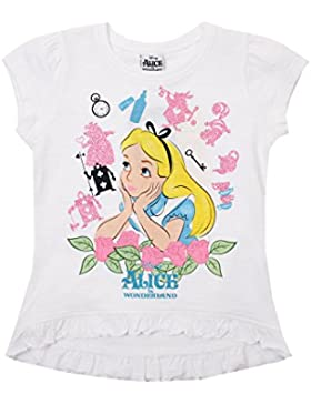 Disney Mädchen Trainingsjacke Alice in Wonderland-Alice-Kids T-White