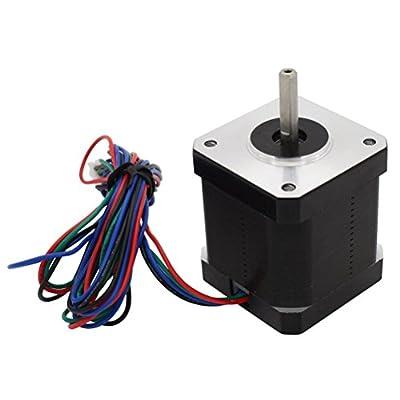 UEETEK NEMA 17 Schrittmotor für 3D-Drucker CNC-Roboter 42,5 mm 12V 1.2A 48Ncm