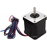 UEETEK Motor de pasos NEMA 17 para impresoras 3D CNC Robots 42,5 mm 12V 1.2A 48Ncm