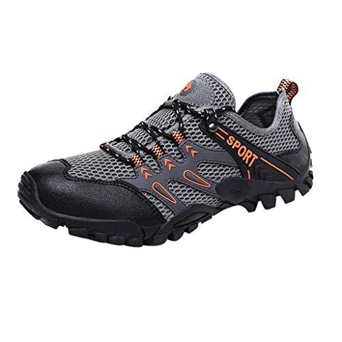 DQANIU❤️❤️Herren Sneakers, Herren Schuhe Neue Rutschfeste und verschleißfeste Wanderschuhe Fashion Mesh Outdoor Sports Sneakers