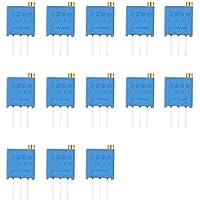 haljia 3296W potenciómetro de resistencia variable 100R ~ 1M ohm Trim Pot Trimmer potenciómetro