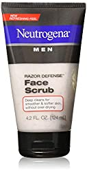 Neutrogena Men Razor Defense Face Scrub, 4.2 Ounce