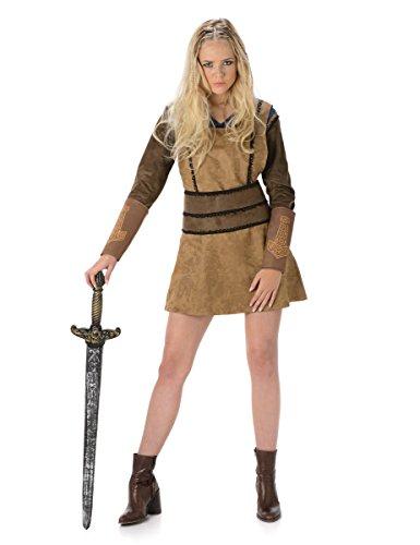 Wikinger Kostüm für Damen Taille  36-38 EU (S - UK 8 - 10) (Wikinger Lady Kostüm)